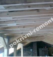 дървена конструкция ремонт на покрив
